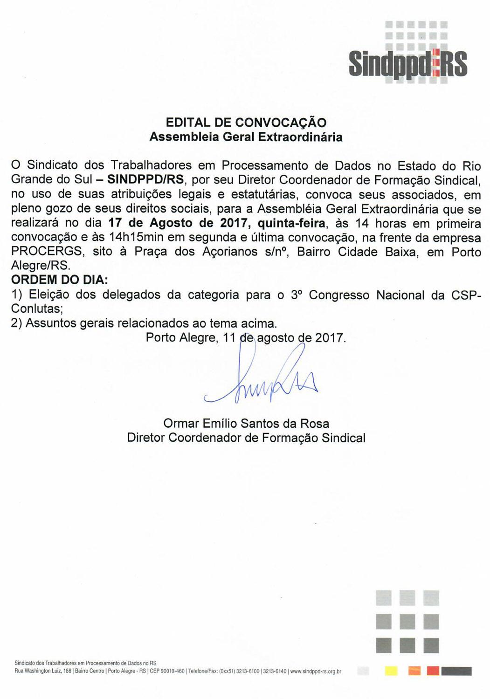 EDITAL ASSEMBLEIA_Eleicao Delegados Congresso Nacional CSP_conlutas