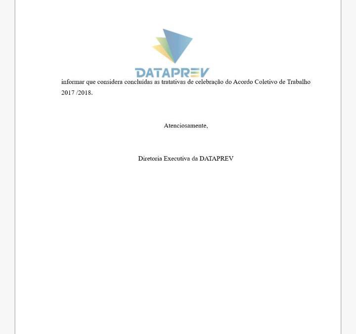 171109COMUNICADO_dataprev_encerramento das negociacoes2