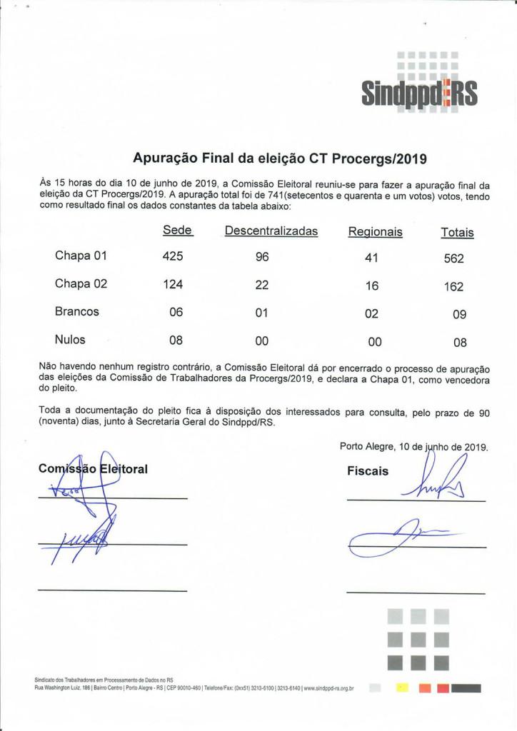 ATA de apuracao final Eleicoes CT 2019_2021