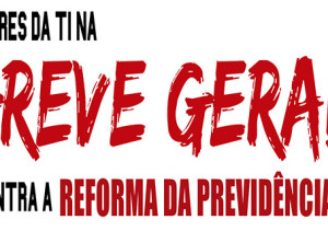 faixa_GREVE GERAL 14 de junho_contra a reforma da previdencia_DESTAQUE