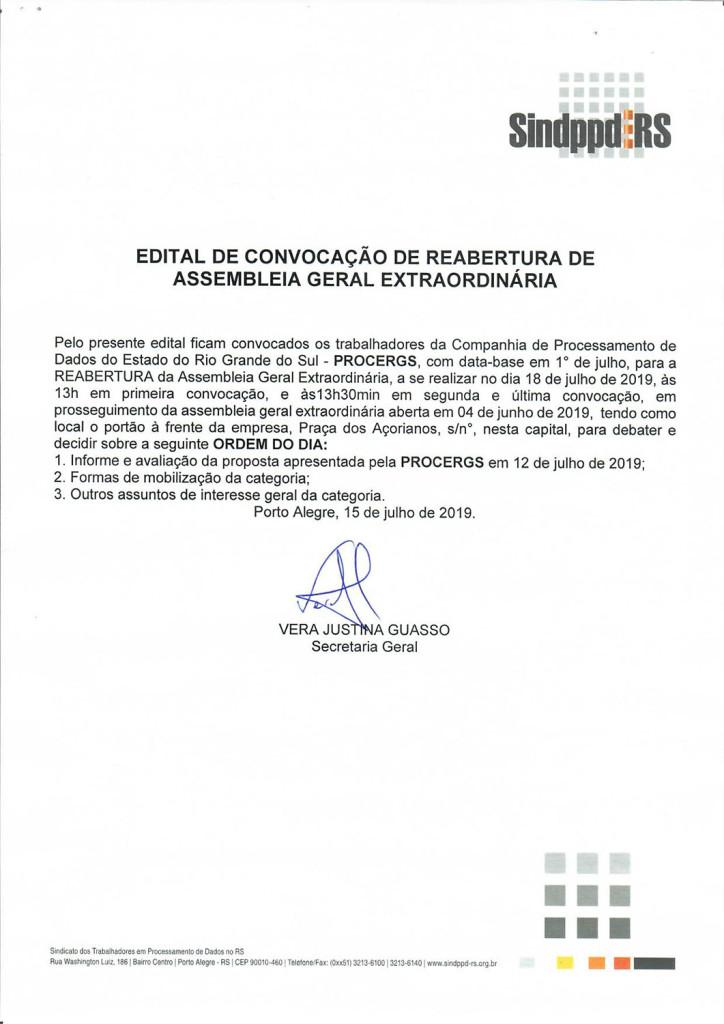 190718EDITAL_reabertua de AGE Campanha Salarial_PROCERGS