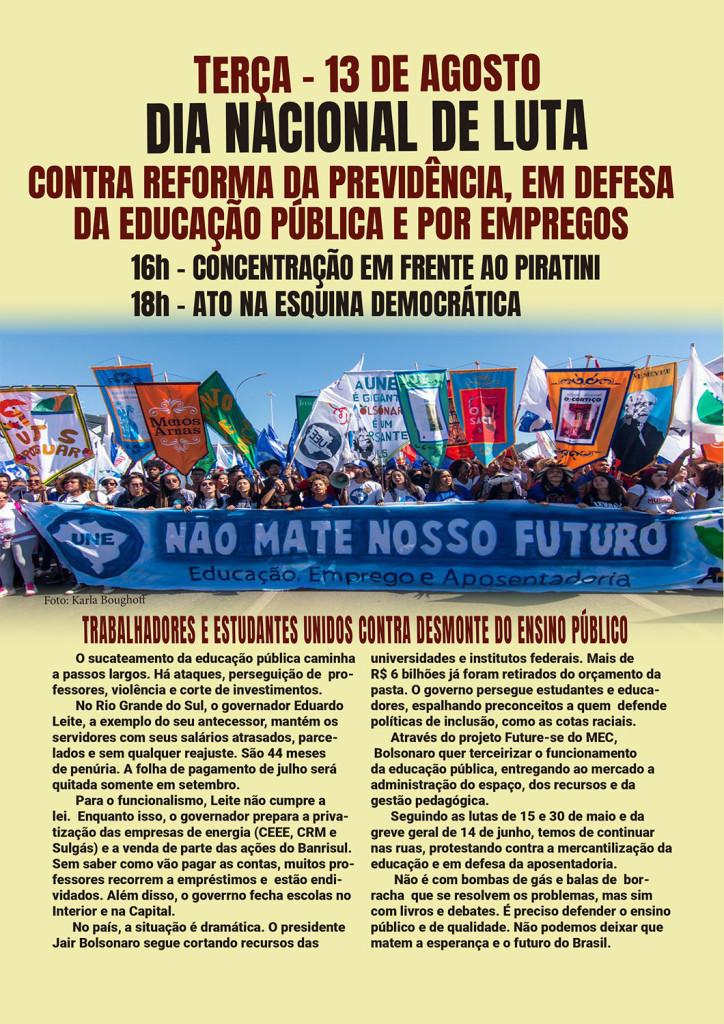 Panfleto do Dia Nacional de Luta_13 de AGOSTO_19_frente