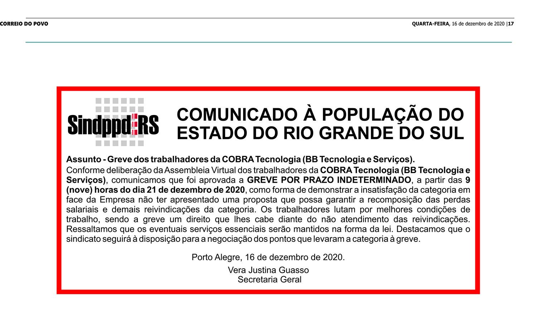 Comunicado Ampliado IMPRESSÃO SINDPPD-RS.cdr