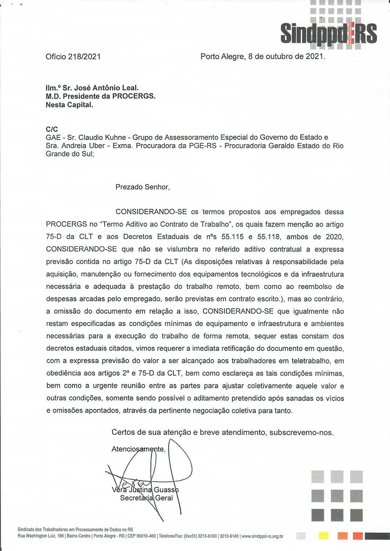 211008OFICIO_sobre termo aditivo da PROCERGS_trabalho remoto